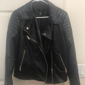H&M Jackets & Coats - Faux leather moto jacket